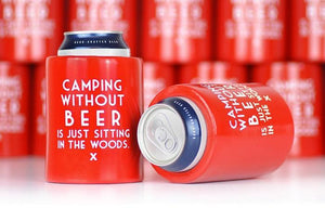 Meriwether Camping Without Beer Vintage Beer Koozie