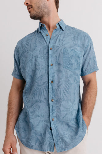 Rails Carson in Tonal Blue Hawaii