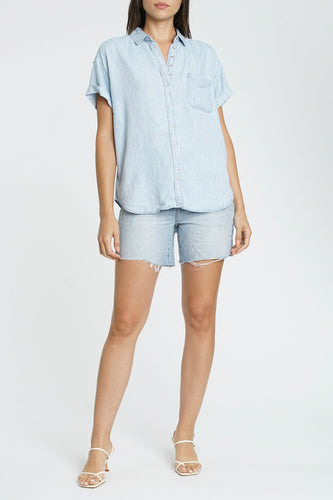 Pistola Courtney Cuffed S/S Shirt in Blue Jay