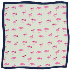 Curated Basics Silk Pocket Square in Flamingo