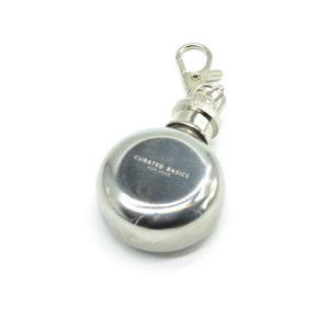 Curated Basics Mini Flask Keychain