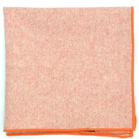 Curated Basics Wool Pocket Square in Orange