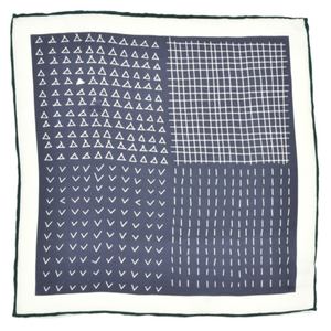 Curated Basics Silk Pocket Square in Mixed Shapes