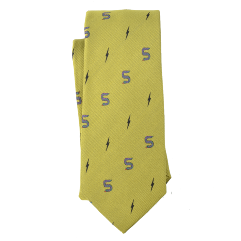 Curated Basics Snake/Lightning Tie in Gold
