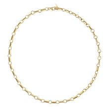 Load image into Gallery viewer, Kris Nations Double Rolo Chain Choker - Gold Filled
