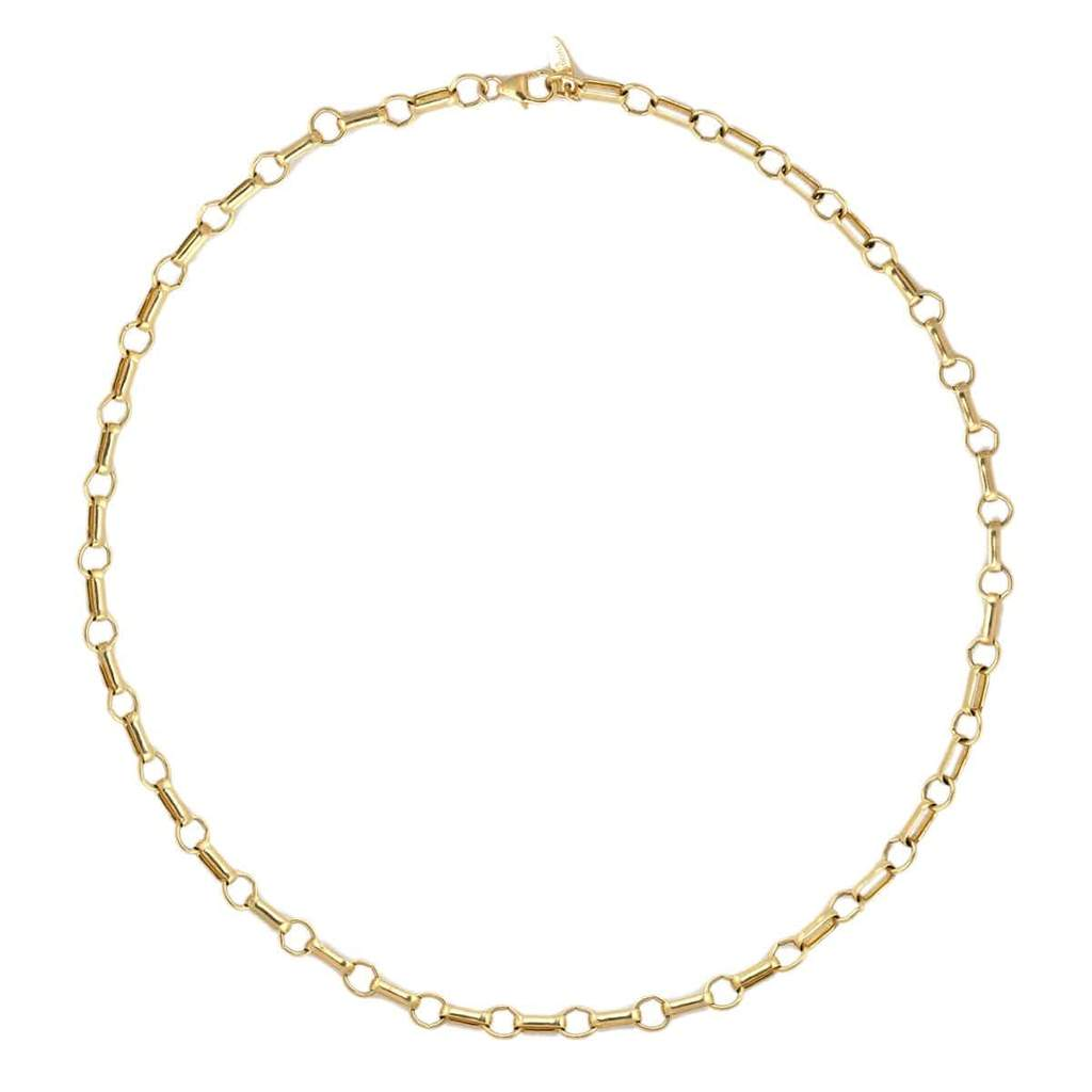 Kris Nations Double Rolo Chain Choker - Gold Filled