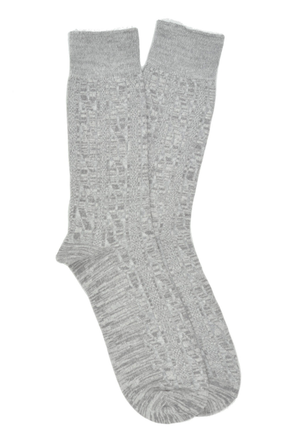 Curated Basics Grey Cable Socks