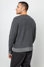 Load image into Gallery viewer, Rails Heston in Charcoal/Heather Grey Stripe