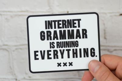 Meriwether Internet Grammar Sticker