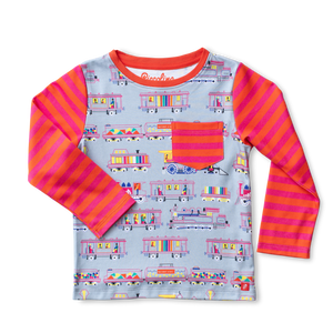Piccolina Locomotives Themed Long Sleeve Tee