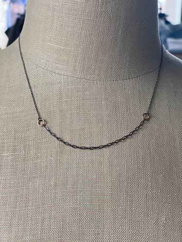 Camille Hemple Clavicle Necklace - Small 10k Rose Gold