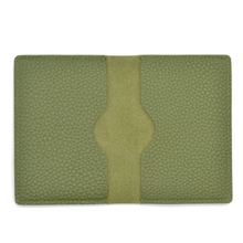 Load image into Gallery viewer, Curated Basics Soft Pebble Grain Bi-Fold Wallet in Olive