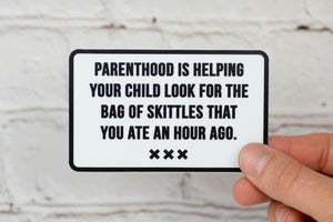 Meriwether Parenthood & Skittles Sticker