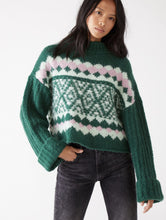 Load image into Gallery viewer, Free People Alpine Pullover in Spearmint Pine Combo