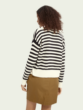Load image into Gallery viewer, Scotch & Soda Striped Organic Cotton-Blend Cardigan
