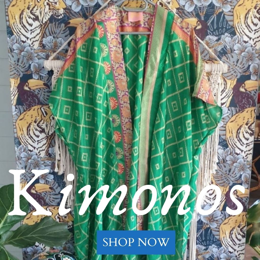 Beautiful, bespoke, authentic Kimonos & bohemian fashion