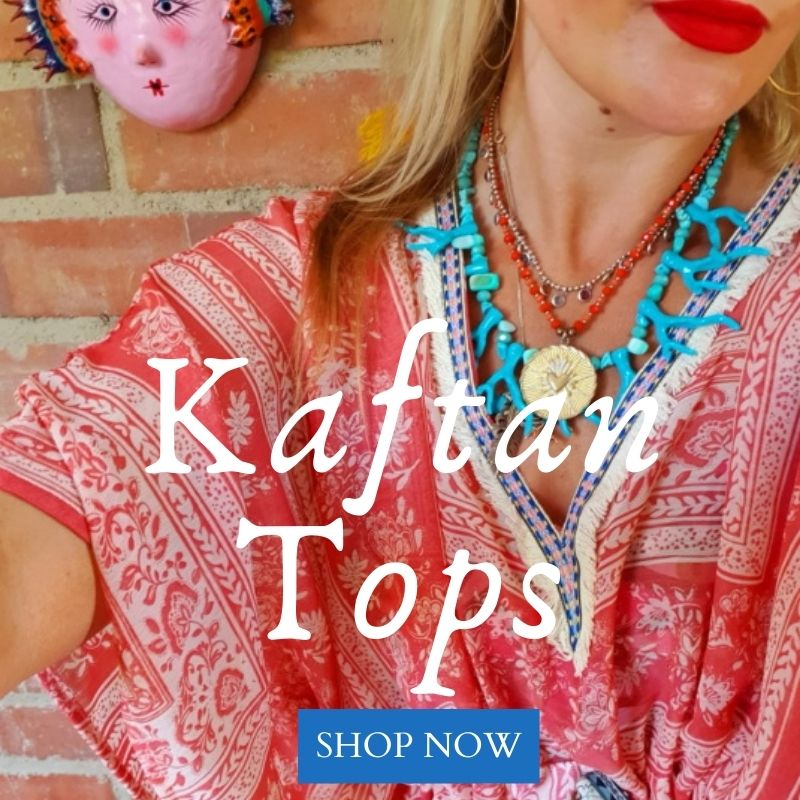 Beautiful, bespoke, authentic Kaftans & tops & bohemian fashion