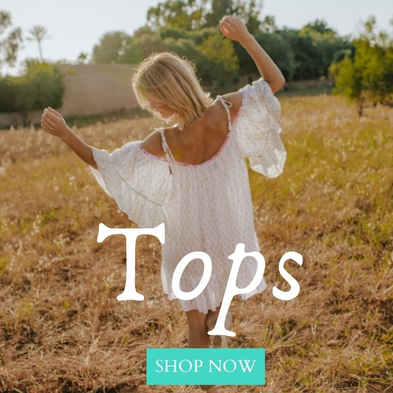 Boho tops, conscious fashion, sustainable fashion, using the most natural materials, creating a unique bohemian high quality range