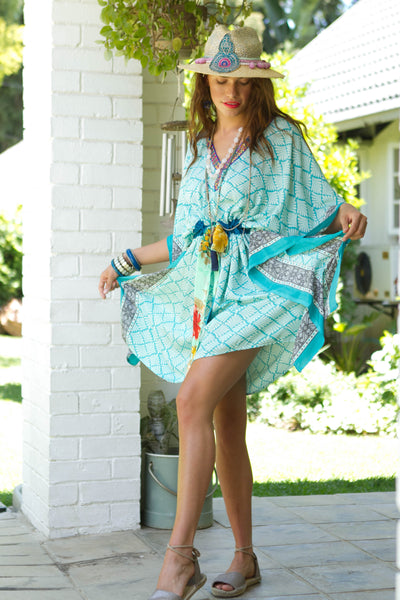 Into The Daisies Short Bespoke Kaftan