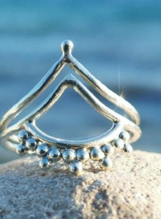 Delicate wish bone Silver ring