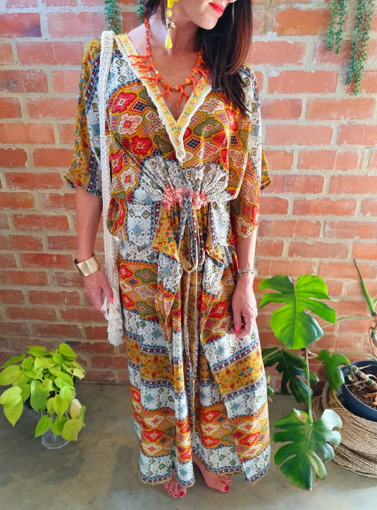 The Aztec Long Kaftan