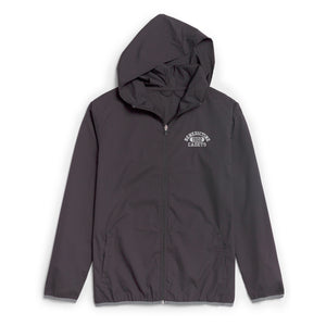 JACKET - Grey Lt Wt Weatherproof w/ Hood