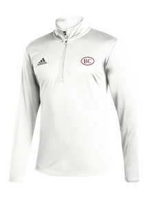 Adidas WHITE L/S Under Lights 1/4 Zip