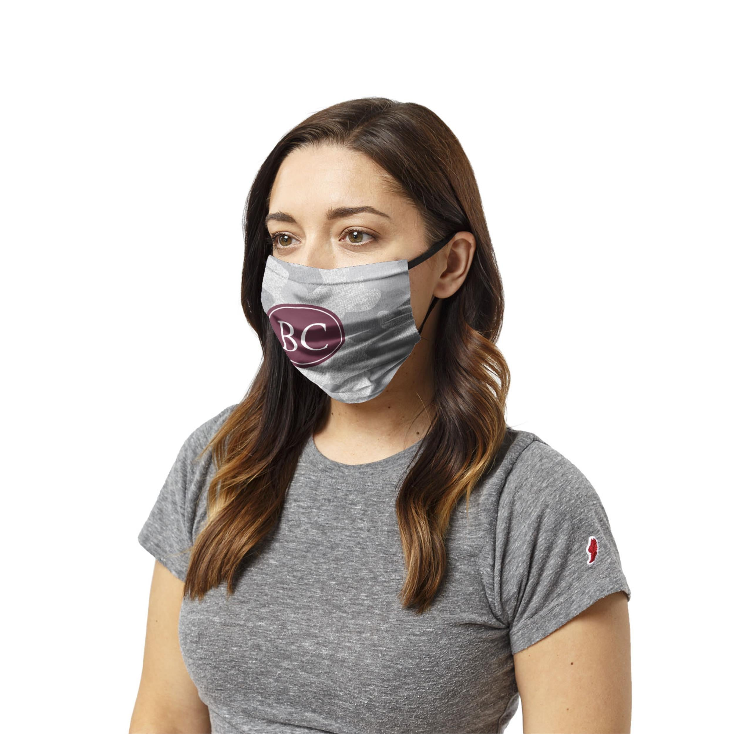 Face Mask -GREY CAMO