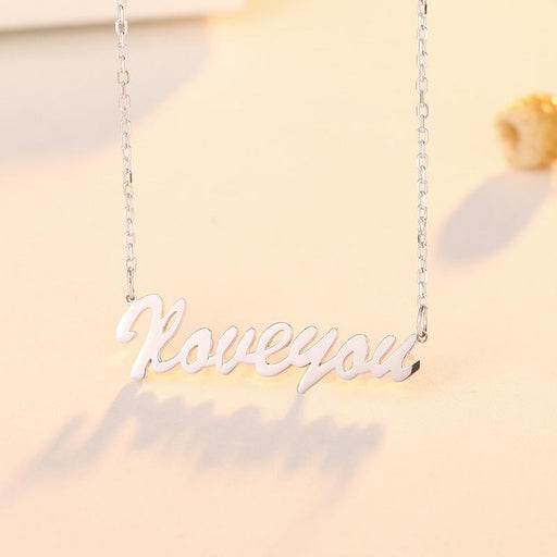 Personalized Infinite Lucky Love 925 Silver Name Necklace