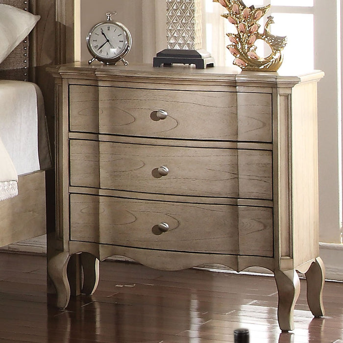 Acme Chelmsford 3-Drawer Nightstand in Antique Taupe 26053 image