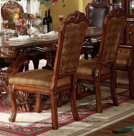 Acme Dresden Pedestal Dining Side Chairs in Brown Cherry Oak 12153 (Set of 2) image