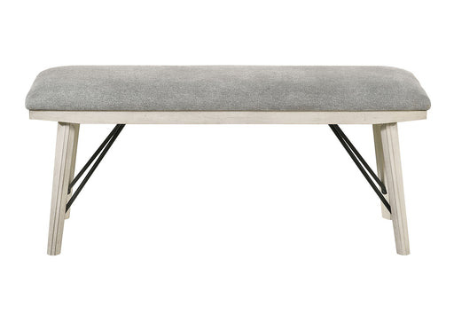 Crown Mark White Sands Bench in Cream/Grey 2132-BENCH image