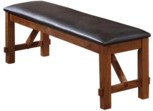 Acme Apollo Upholstered Dining Bench in Walnut 70004 image