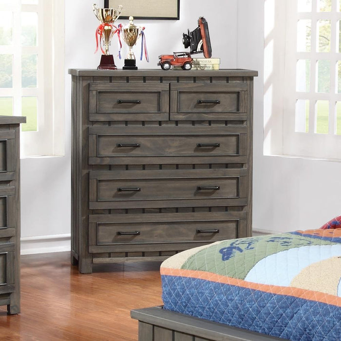Napoleon Rustic Gun Smoke Five-Drawer Chest