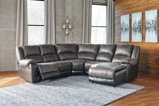 Nantahala Signature Design by Ashley 5-Piece Reclining Sectional with Chaise image