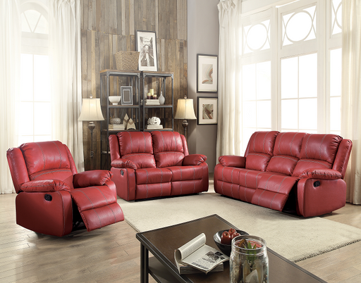 Zuriel Red PU Sofa (Motion) image