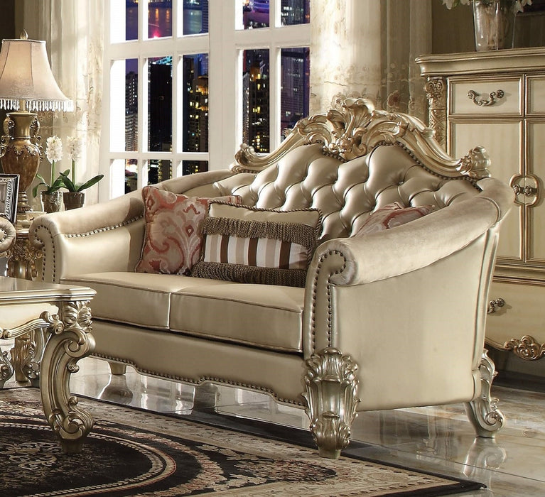 Acme Dresden Loveseat in Gold Patina 53121 image