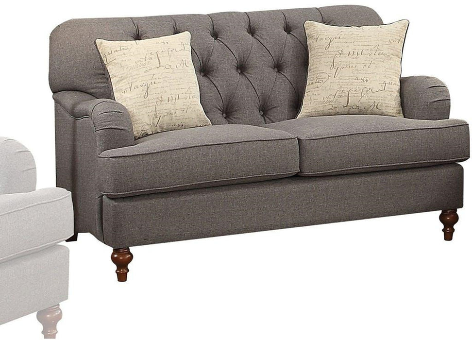 Acme Furniture Alianza Loveseat in Dark Gray 53691 image