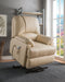Ixora Beige PU Recliner w/Power Lift & Massage image