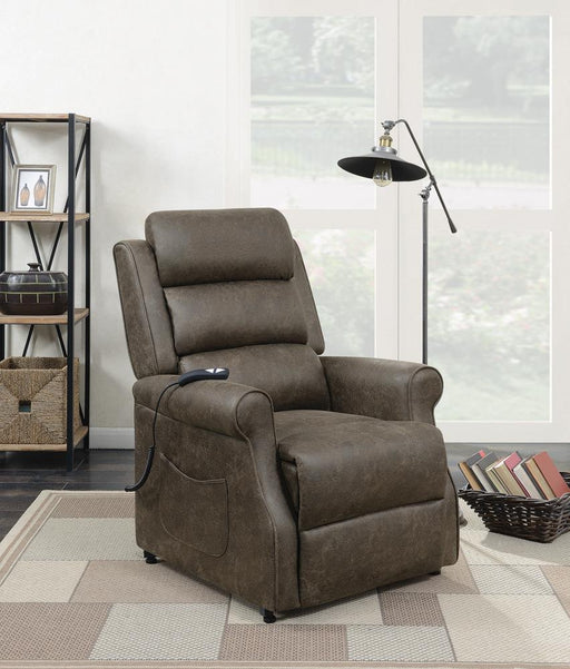 G650303 Casual Brown Power Lift Recliner image