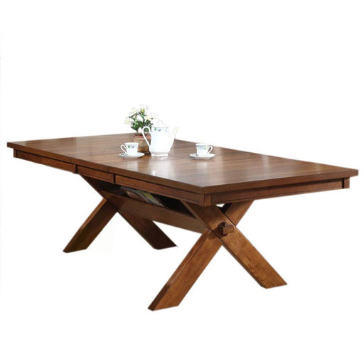 Acme Apollo Trestle Base Rectangular Dining Table in Walnut 70000 image