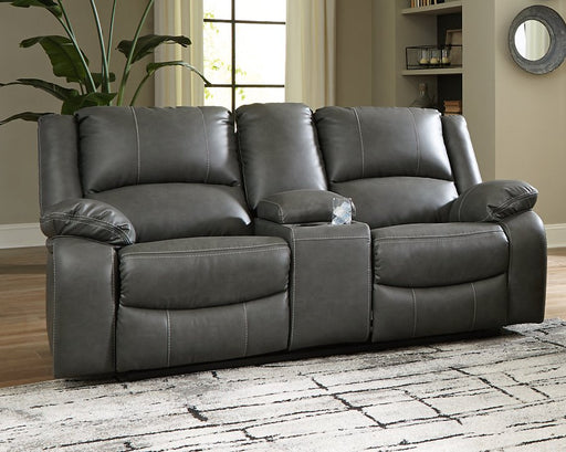 Calderwell Signature Design by Ashley DBL REC PWR Loveseat wConsole image