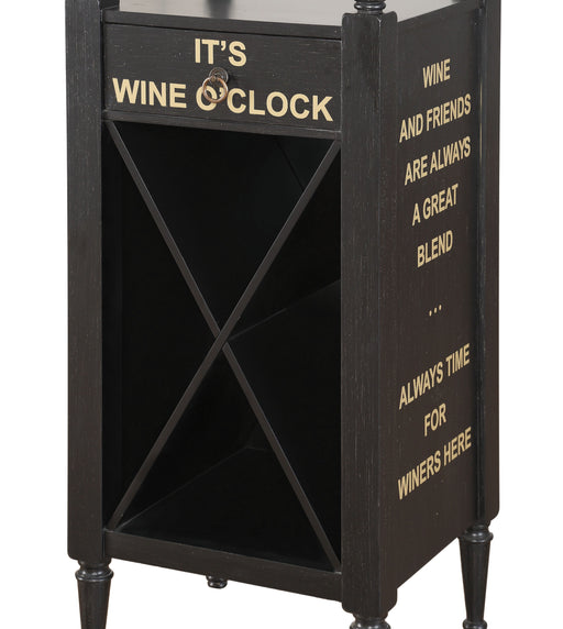 Anthony Antique Black Wine Cabinet image