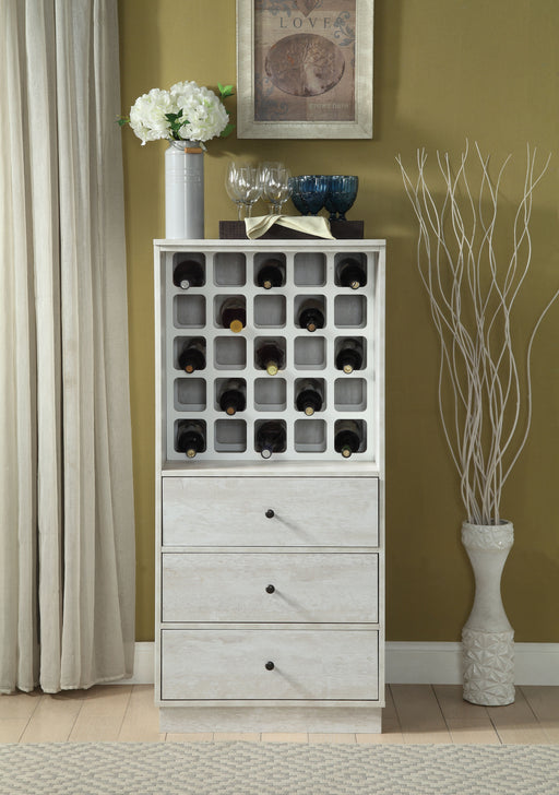 Wiesta Antique White Wine Cabinet image