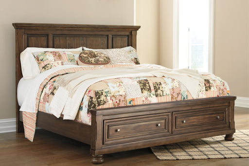 Flynnter Signature Design by Ashley King Panel Bed with 2 Storage Drawers image