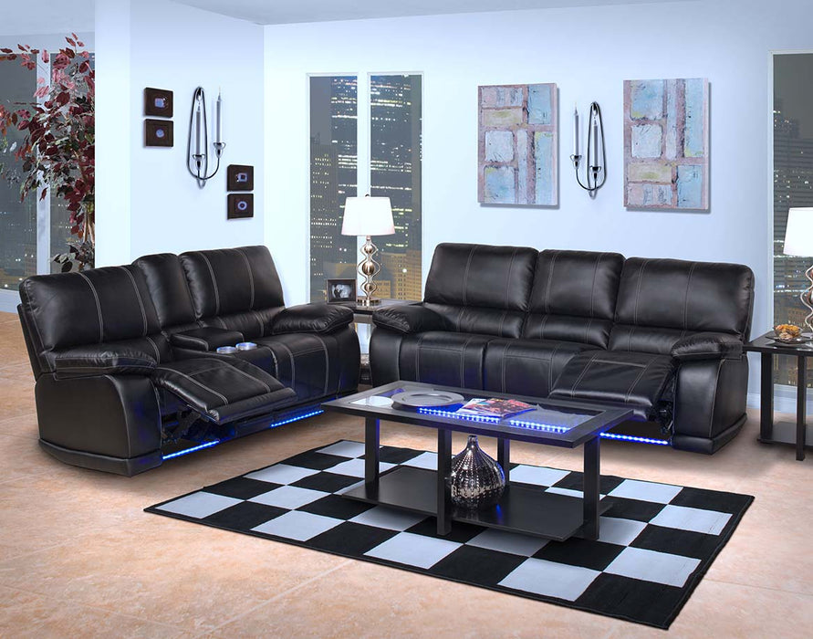 Electron Black 2-Piece Living Room Set
