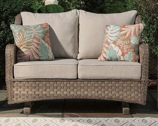 Clear Ridge Signature Design by Ashley Loveseat Glider wCushion image