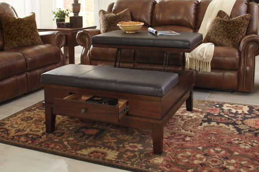 Gately Signature Design by Ashley Cocktail Table Ottoman image