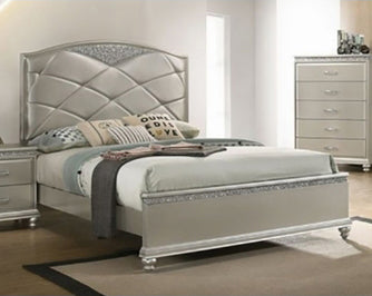 Crown Mark Valiant King Upholstered Panel Bed in Champagne B4780-K image