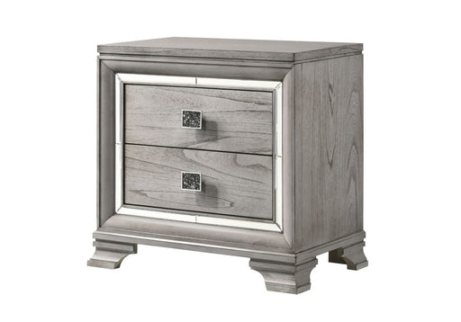 Crown Mark Vail Nightstand in Grey B7200-2 image